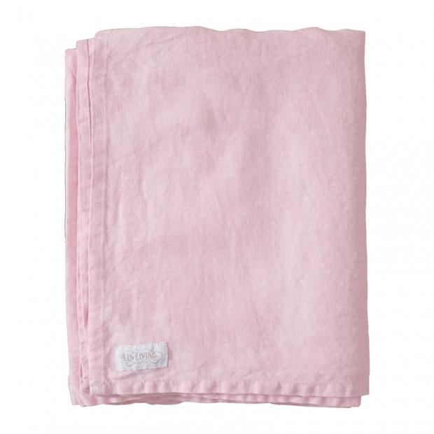 Lněné prostěradlo 150x270, růžové