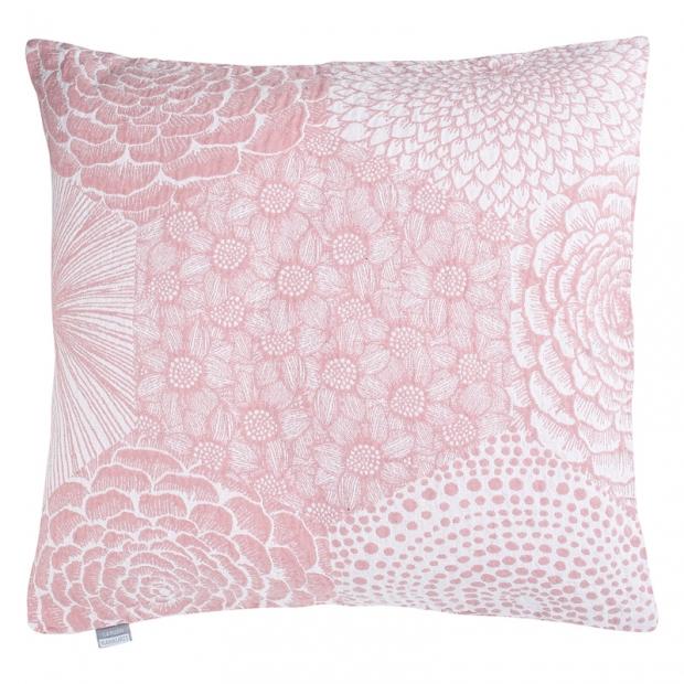 Povlak na polštář Ruut 50x50, růžovo-bílý
