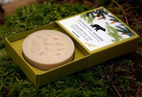 Aamumaa mýdlo se stopou medvěda