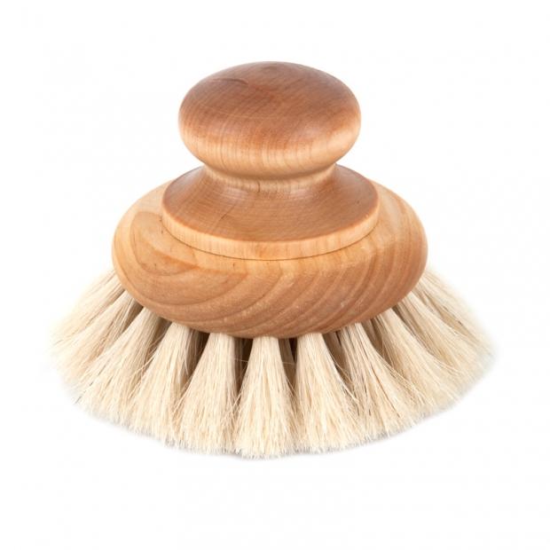 Okrúhla masážna kefa z konských vlasov
