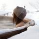 Čepice do sauny Meri, tmavě béžová