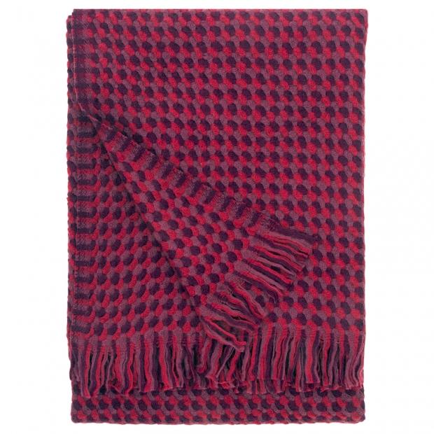 Vlnená deka Alva 130x170, bordová