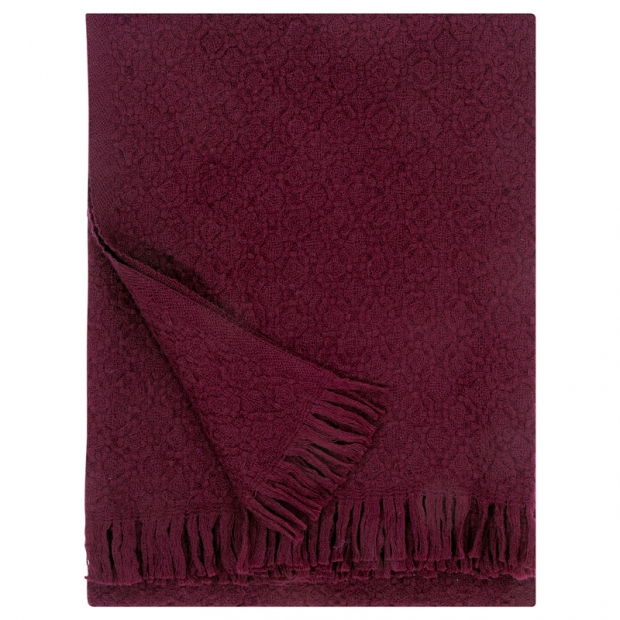 Vlnená deka Corona Uni 130x170, bordová