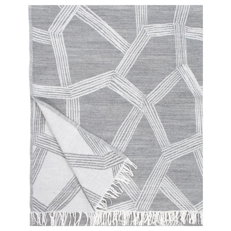 Vlnená deka Himmeli 140x180, sivá
