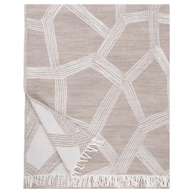 Vlněná deka Himmeli 140x180, béžová