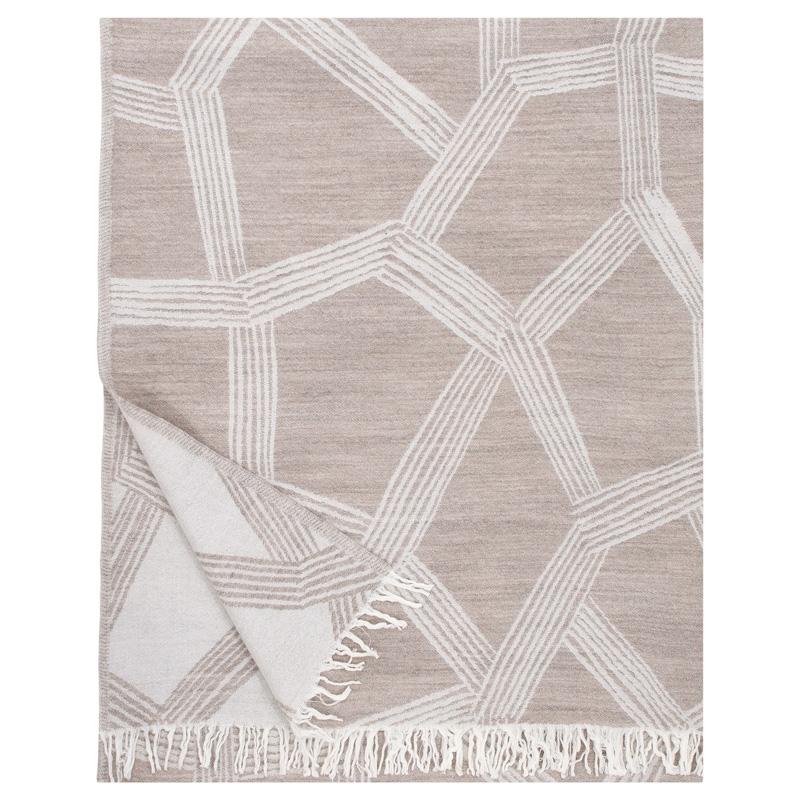 Vlnená deka Himmeli 140x180, béžová