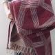 Vlněná deka Himmeli 130x180, bordová
