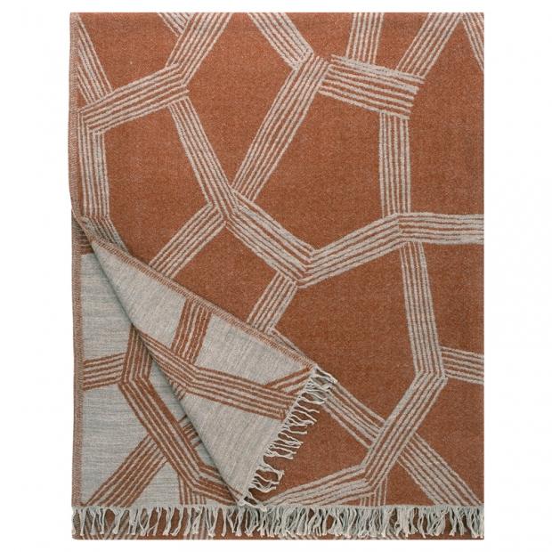 Vlněná deka Himmeli 140x180, oranžová