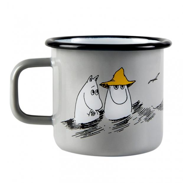 Hrnek Moomin Friends 0,37l, šedý