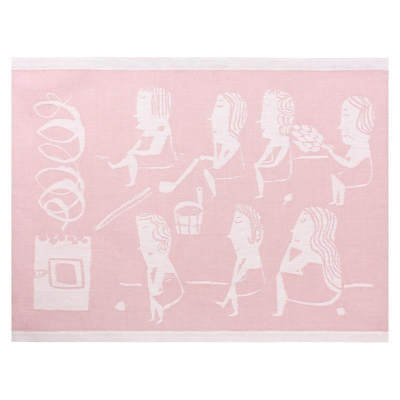 Podložka do sauny Naisten 46x60, růžová