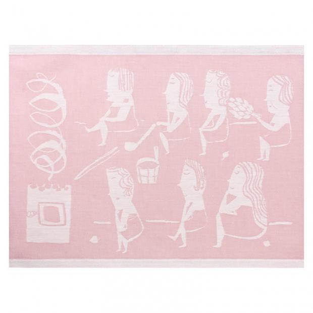 Podložka do sauny Naisten 46x150, růžová