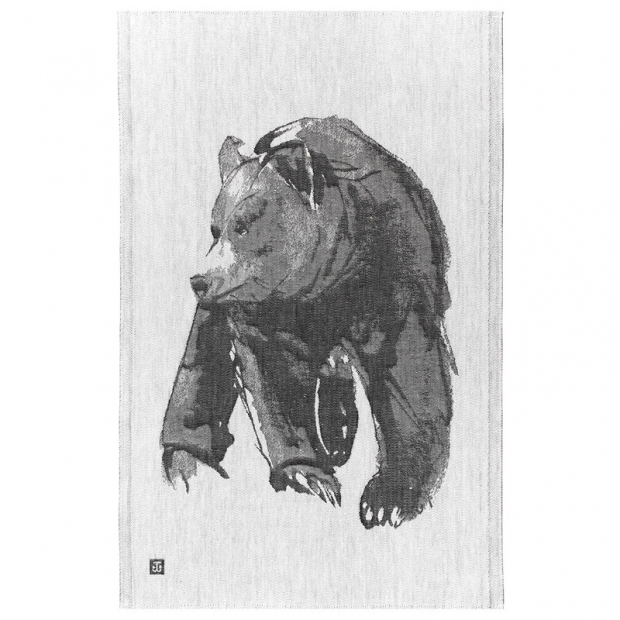 Utěrka Karhu 46x70, šedo-černá