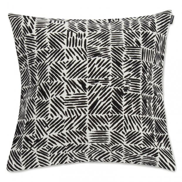 Obliečka na vankúš Varvunraita 50x50, čierno-biely