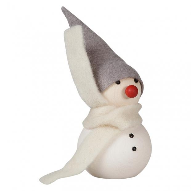 Snehuliak s červeným nosom 10cm