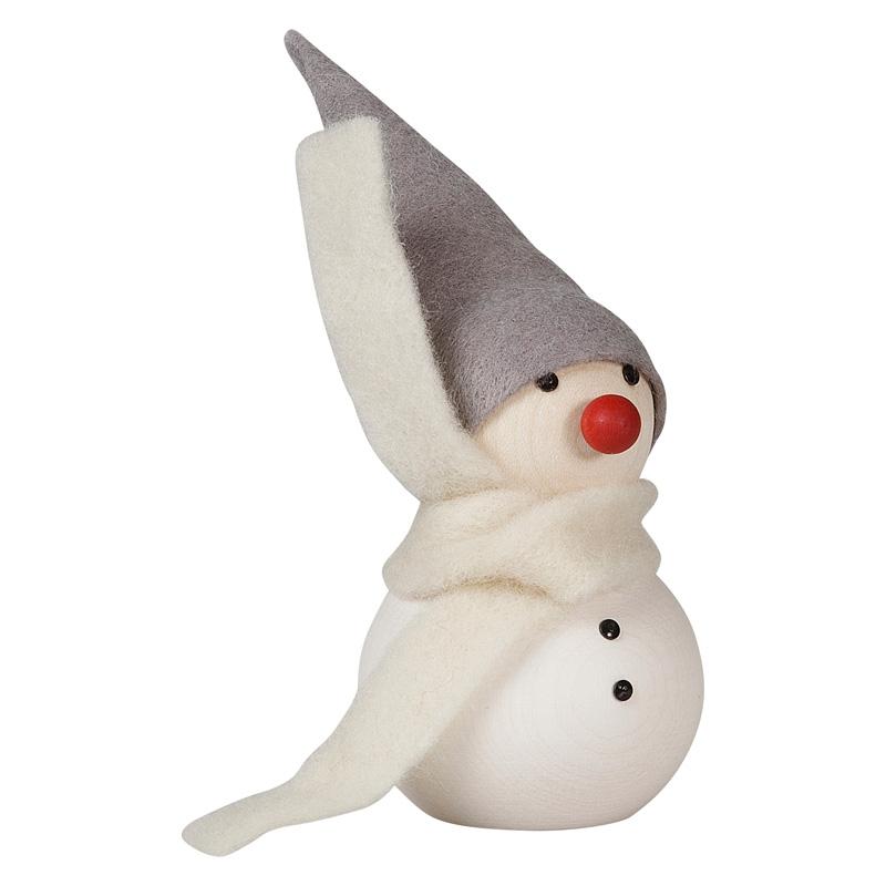 Sněhulák s červeným nosem 10cm