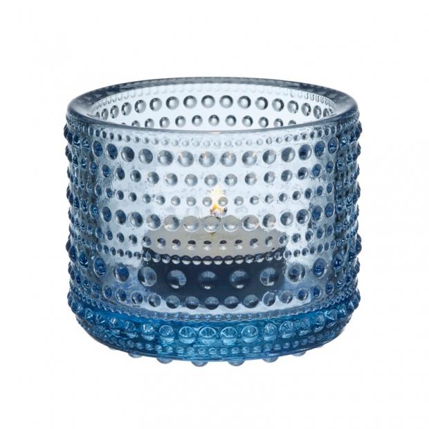 Svícen Kastehelmi, modrý aqua