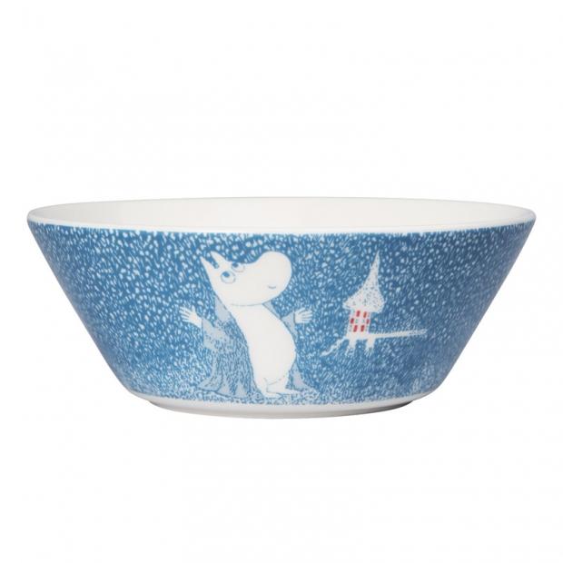 Miska Moomin Light snowfall 15cm, modrá