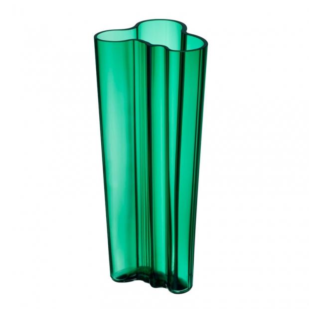 Váza Alvar Aalto 255mm, smaragdová
