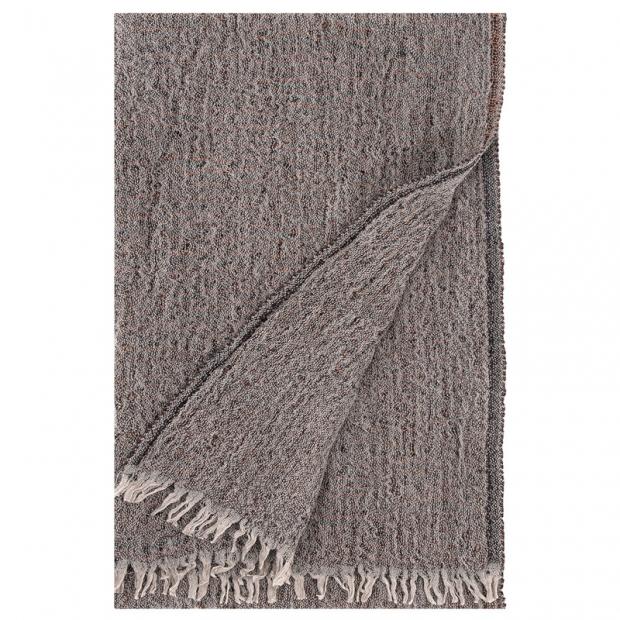 Šál Heta 65x205, béžová-černá-oranžová