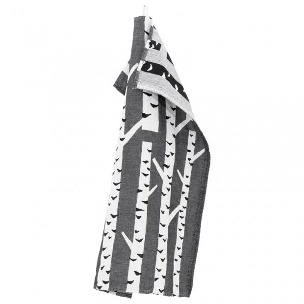 Utěrka Koivu 48x70, kontrastní černo-bílá