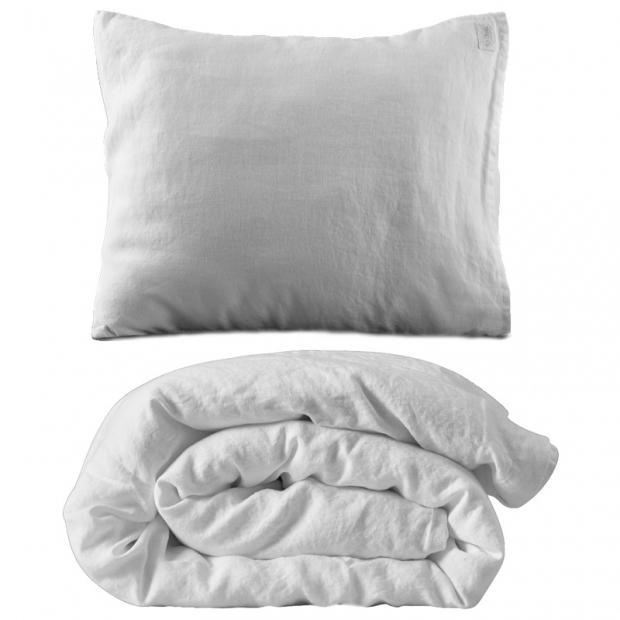 Ľanové obliečky 220x240, biele