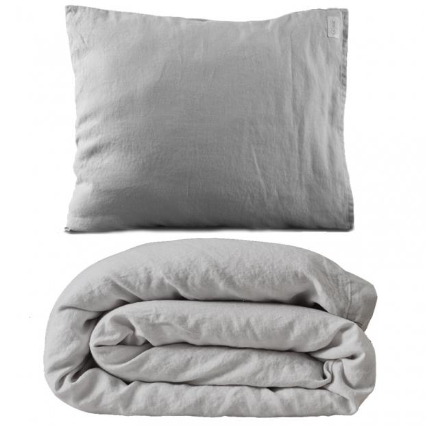 Ľanové obliečky 150x210, sivé