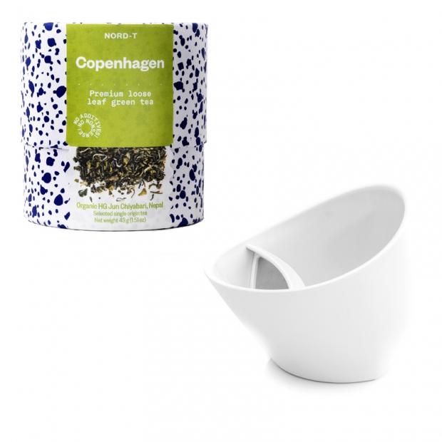 Set hrnku a sypaného čaje Copenhagen