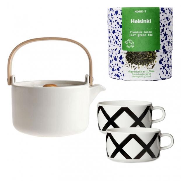 Set čajové soupravy Oiva a sypaného čaje Helsinki