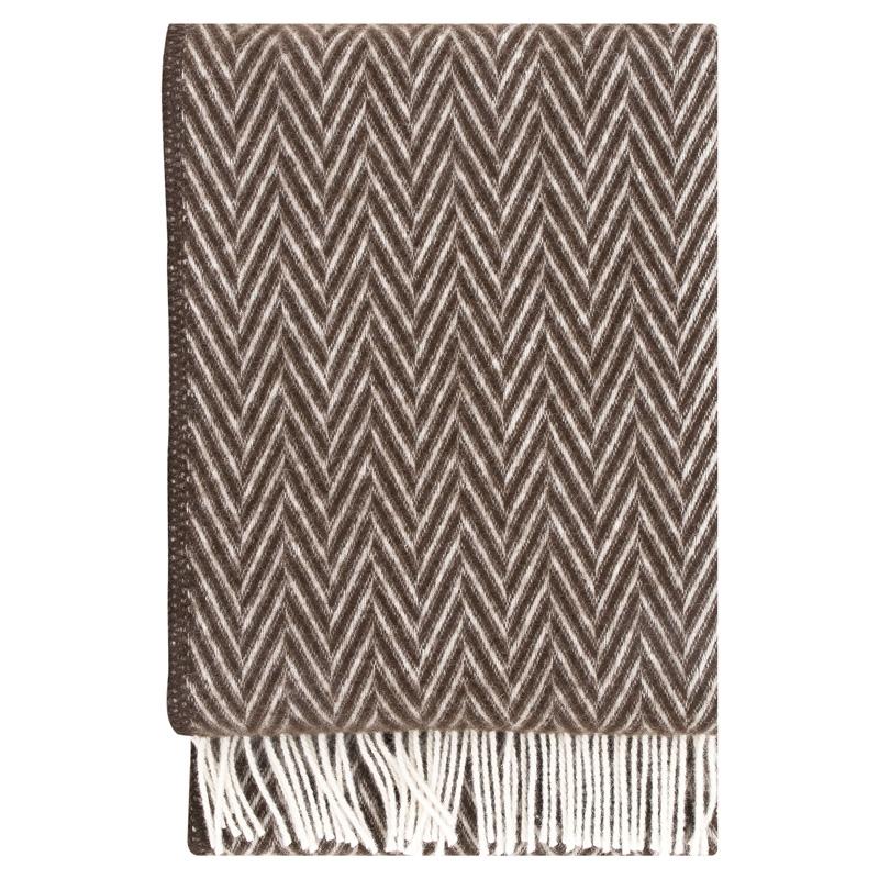 Vlněná deka Iida 130x200, hnědá