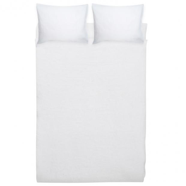 Ľanové obliečky Ilta 230x220, biele