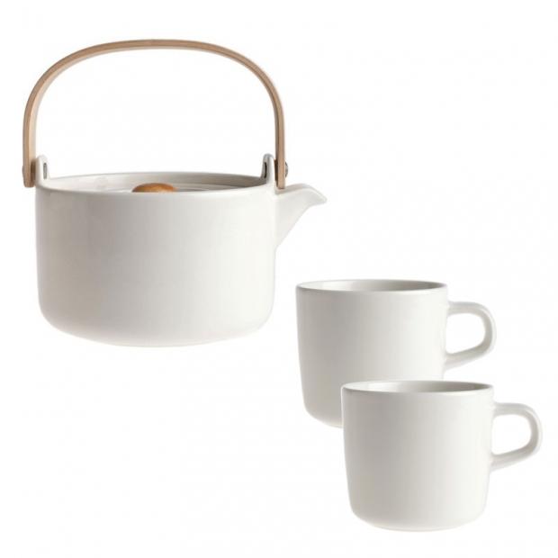 Čajová súprava Oiva, biela