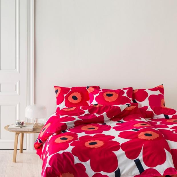 Obliečky Unikko 220x240, červené