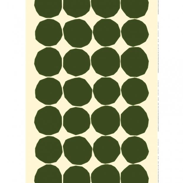 Látka Kivet 10m, bavlna / tmavě zelená