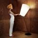 Stojací lampa Soihtu, bílá