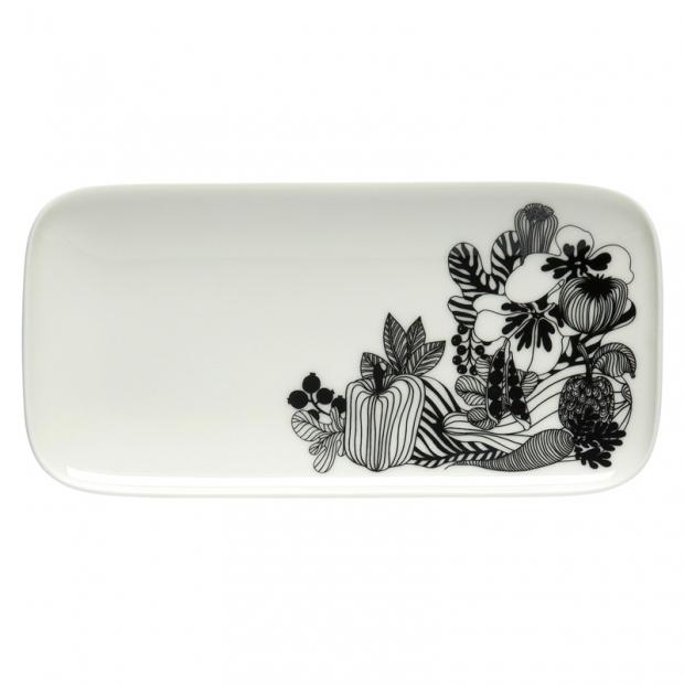 Servírovací talíř Oiva Siirtolapuutarha 12x24,5cm, květy