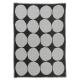 Deka Kivet 140x190, čierno-bielá