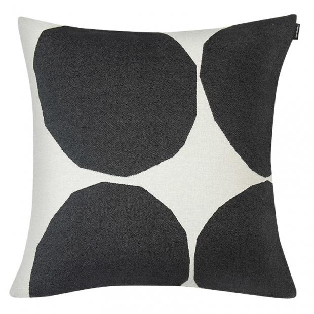 Obliečka na vankúš Kivet 50x50, čierno-biela