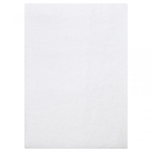 Lněné prostěradlo Ilta 160x270, bílé