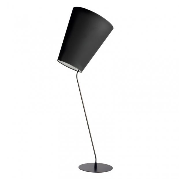 Stojací lampa Soihtu, černá