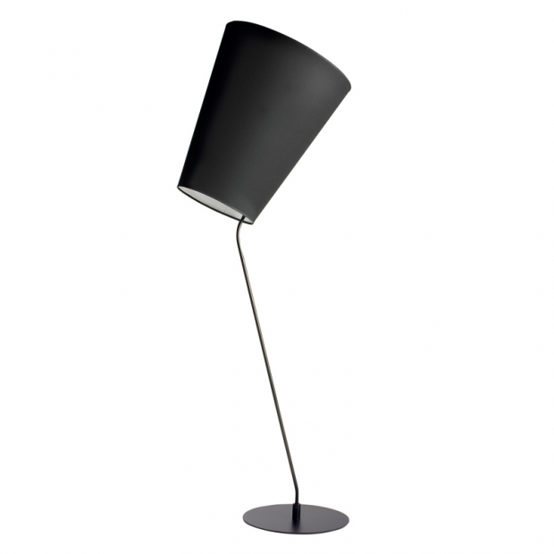 Stojacia lampa Soihtu, čierna