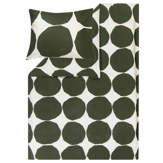 Povlečení Kivet 150x210, zeleno-bílé