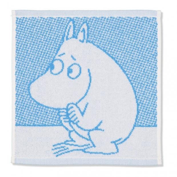 Ručník Moomin 30x30, modrý