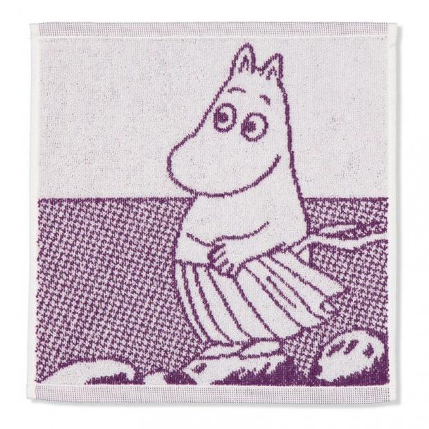 Ručník Moominmamma 30x30, fialový