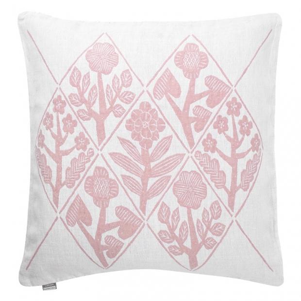 Povlak na polštář Kukat 50x50, bílo-růžový