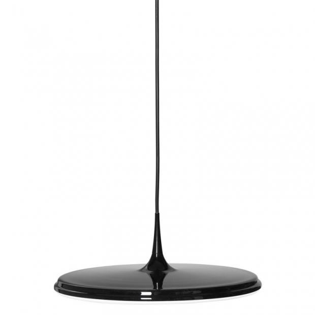 Závěsná lampa Tip 400, černo-bílá