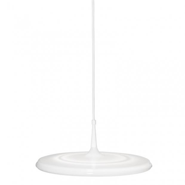 Závesná lampa Tip 400, biela