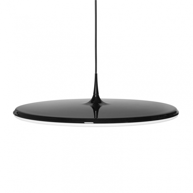 Závesná lampa Tip 600, čierno-biela