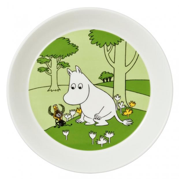 Talíř Moomintroll 19cm, zelený