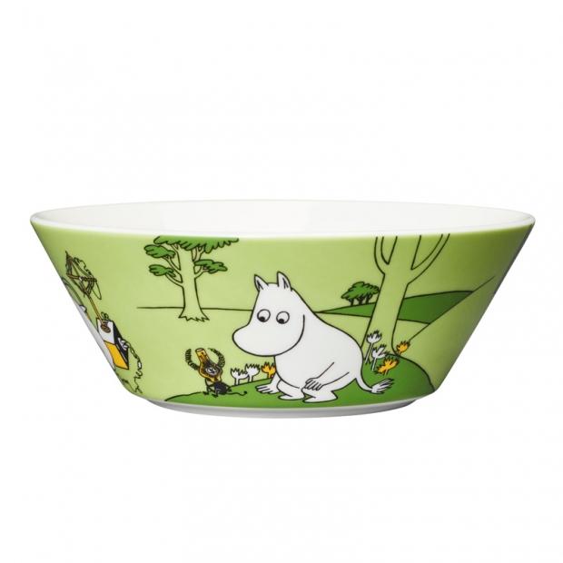 Miska Moomintroll 15cm, zelená