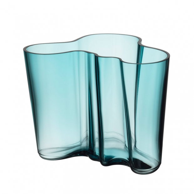 Váza Alvar Aalto 160mm, sea blue